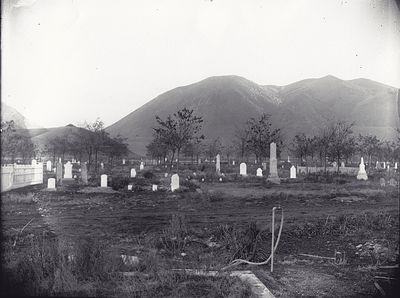 Picture of the cemetery in the 19th century